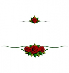 rose cartoon ornaments vector image