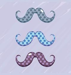 set diferent mustache decoration design vector image
