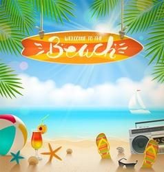 Beach vacation vector image