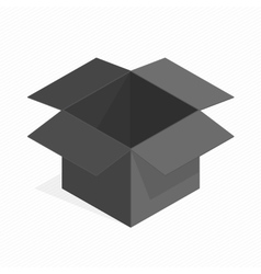 Black square cardboard box vector image
