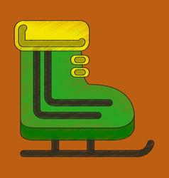 flat shading style icon skates vector image
