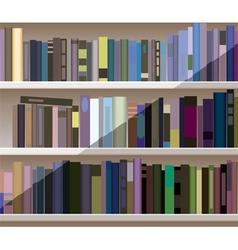 modern bookshelf vector image vector image