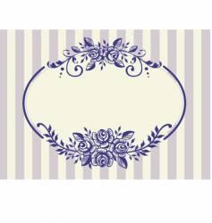 vintage roses frame vector image vector image