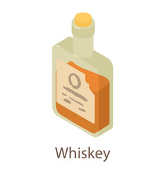whiskey icon isometric 3d style vector image