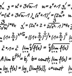 Seamless with algebra symbols vector image