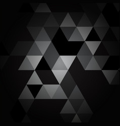black and gray triangle pattern vector image