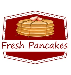 Fresh pancakes template vector image