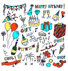 happy birthday big collection vector image