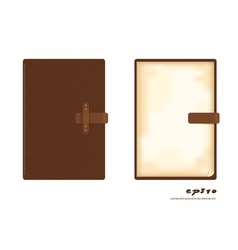leather note book vector image vector image