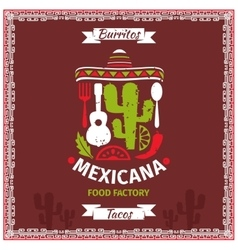 Mexican food poster template design vector