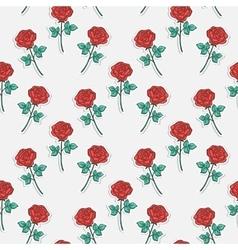 Pattern sticker rose vector image