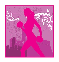 Person working out vector image