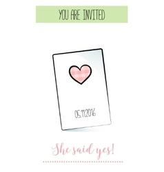Romantic announcement for bridal shower party vector