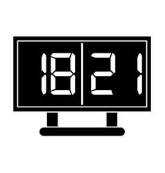 silhouette board score american football icon vector image