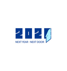 2021 changes 2020 new year conceptual vector image