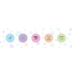 5 china icons vector