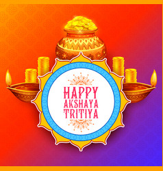Akshay tritiya religious festival of india vector