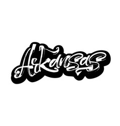 Arkansas sticker modern calligraphy hand vector