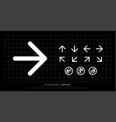 arrow icon modern standard round sign arrows vector image
