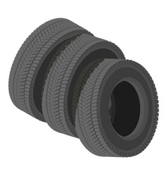 Automobile tyre icon isometric style vector