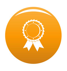 award icon orange vector image
