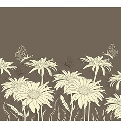 background with chamomile vector image
