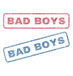 Bad boys textile stamps vector