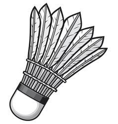 Badminton shuttlecock vector
