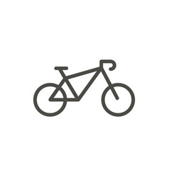 bike icon line bicycle symbol vector image