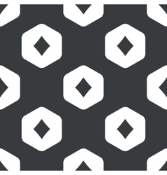 Black hexagon diamonds pattern vector
