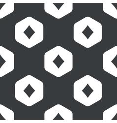 Black hexagon diamonds pattern vector
