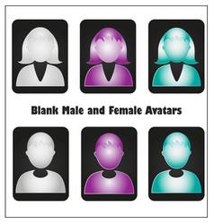 Blank avatars set vector