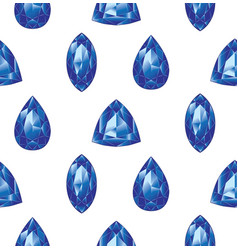 Blue gemstones set vector