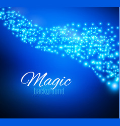 Blue sparks and stars glitter special light effect vector