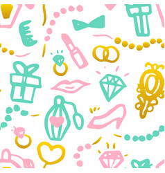 bridal shower seamless pattern vector image