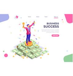 business earn application banner vector image