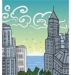 Cartoon city vector