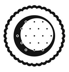 Choco star biscuit icon simple style vector