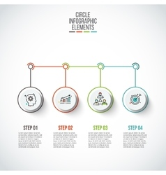 Circles with thin lines for infographics vector