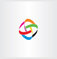 colorful knot abstract logo business icon vector image