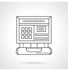 Computer diagnostic flat line icon vector image