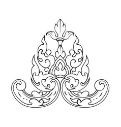 decorative ornament with lily flower vector image