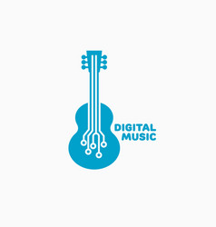 Digital music logo vector