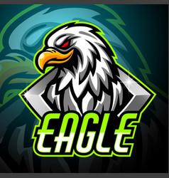eagle mascot sport esport logo design vector image