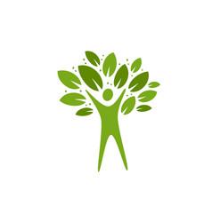 ecology logo nature environment natural label vector image