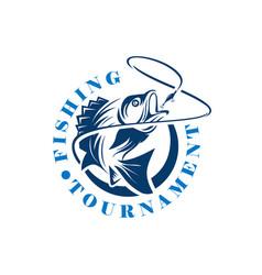 fishing tournament logo template logo vector image
