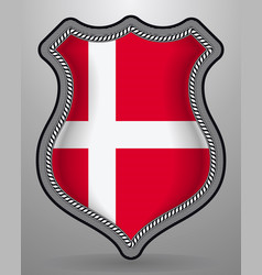 flag of denmark badge and icon vector image