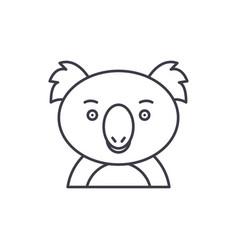 funny koala line icon concept funny koala vector image