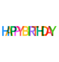Happy birthday icon celebration card with text vector