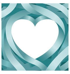 Heart Shape and Ribbon Background vector image